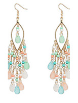 Bohemia Exaggerated Fashion Beads Tassel Earrings Lady Multicolor  Party  Casual Drop Earrings Statement Jewelry
