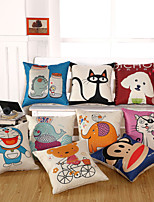 1 Pcs Cartoon Animal Square Pillow Case Cotton/Linen Pillow Cover For 7 Style