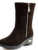 Women's Boots Comfort Suede Spring Casual Comfort Dark Brown Black Flat