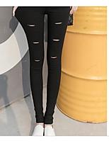 Women's Medium Shredded Legging,Striped
