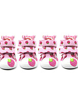 Lovely Strawberry Cat Dog Shoes & Boots Cute Fashion Casual/Daily Wedding Keep Warm Cartoon Blushing Pink Blue Fuchsia