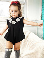 Baby Infants And Young Children Cotton Fashion Small flower conjoined triangle crawl sleeveless package fart ha clothing
