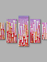 IARTS Oil Painting Modern Abstract Purple and Red Color Art Acrylic Canvas Wall Art For Home Decoration