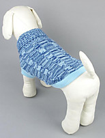Dog Sweater Dog Clothes Casual/Daily Solid Blue Fuchsia