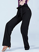 Latin Dance Bottoms Women's Performance Polyester Zipper 1 Piece High Pants