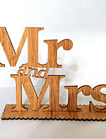 Mr & Mrs Wedding Decoration Items Wood Grain Furnishing Articles In English Letters