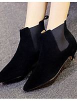 Women's Boots Comfort Nubuck leather Suede Spring Casual Comfort Gray Black Flat