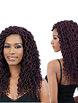 1 Pack burgundy Havana Mambo Wavy Faux Locs Braids Hair Extensions Kanekalon Hair Braids 100g