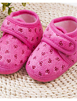 Baby Flats First Walkers Fabric Spring Fall Casual Outdoor Walking First Walkers Magic Tape Low Heel Ruby Blue Blushing Pink Flat