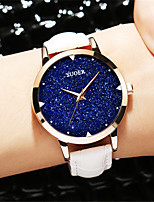 Women's Fashion Watch Quartz Genuine Leather Band Black White Blue Red Purple