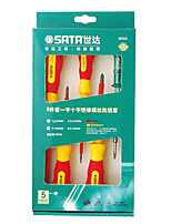 Sata 09302 Insulated Screwdriver Set Of 5 Sets Of Screwdriver Sets / 1 Set