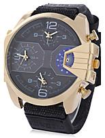 SHIWEIBAO Men's Luxury Military Watch Genuine Leather Watch Fashion Watch Wrist watch Calendar Multi Time Zones Punk Quartz Charm Cool Casual