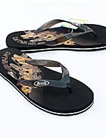 Men's Slippers & Flip-Flops Comfort PVC Spring Casual Blue Black Flat