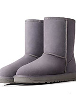 Women's Boots Comfort Suede Spring Casual Khaki Gray Black Flat