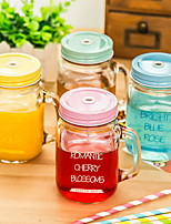 Creative Cup Glasses Gradient Glass Bottle Transparent Glasses Transparent Cup With Straw Cup