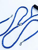 Corda de tração do animal de estimação corda de mão manuseada torção de corda de cão de alta qualidade de dupla cabeça impedindo a dupla