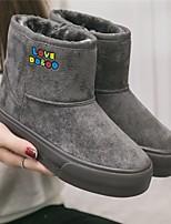 Для женщин Ботинки Удобная обувь Замша Тюль Весна Повседневные Удобная обувь Черный Серый На плоской подошве