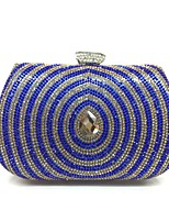 Women Evening Bag Metal All Seasons Formal Event/Party Minaudiere Push Lock Green Red Gold Blue