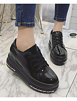 Women's Sneakers Comfort PU Patent Leather Spring Casual Comfort Green Ruby Black Flat