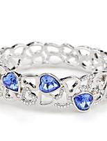 Femme Bracelets Rigides Bijoux Naturel Mode Vintage Fait à la main bijoux de fantaisie Cristal Alliage Formé Carrée Bijoux Pour Mariage