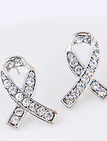 Women's Stud Earrings Rhinestone Crossover Euramerican Alloy Jewelry For Party Daily