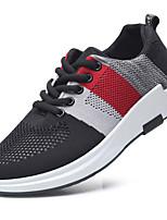 Men's Sneakers Comfort Light Soles Tulle Spring Summer Casual Outdoor Comfort Light Soles Flat Heel Gray Black Walking Shoes