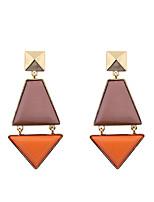 Fashion Women Resin Stone Set Geometrical Drop Earrings
