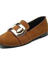 Для женщин Мокасины и Свитер Удобная обувь Балетки Оригинальная обувь Мокасины Светодиодные подошвы Замша Лето ОсеньДля офиса Для