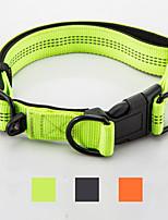 Colliers Réfléchissant Portable Pliable Sécurité Ajustable Couleur Pleine Nylon