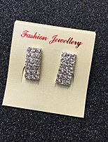Stud Earrings Rhinestone Unique Design Classic Chrome Geometric Jewelry ForWedding Party Special Occasion Daily Casual Outdoor