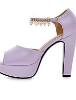 Femme Chaussures à Talons Confort Polyuréthane Printemps Décontracté Confort Blanc Violet Rose Plat