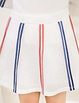 Для женщин На выход На каждый день Как у футболки Платья Костюмыпросто Милые Полоски Пэчворк