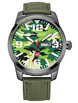 Men's Sport Watch Fashion Watch Quartz Calendar Nylon Band Casual Black Blue Green Khaki