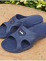 Men's Slippers & Flip-Flops Comfort PVC Spring Casual Navy Blue Black Flat