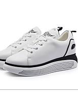 Women's Sneakers Comfort PU Spring Casual Black White Flat
