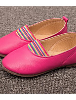 Girls' Flats First Walkers PU Leatherette Spring Fall Casual Walking First Walkers Magic Tape Low Heel Blushing Pink Fuchsia Yellow Flat