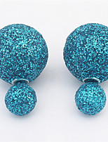 Korean Style Adorable Elegant shiny Sweet  Ball Stud Earrings Lady Party Stud Earrings Movie Jewelry