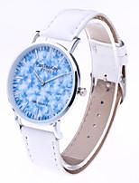 Mulheres Relógio de Moda Quartzo Couro Banda Casual Preta Branco Marrom