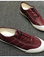 Da uomo Sneakers Comoda Di corda PU (Poliuretano) Primavera Casual Bianco Grigio Borgogna Piatto