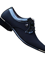 Men's Oxfords Comfort Tulle Spring Casual Comfort Black Blue Flat