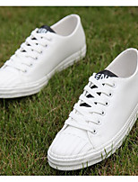 Men's Sneakers Comfort Canvas PU Spring Casual White Black Gray Flat