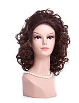 Fashion Brown Color Curly Synthetic Wigs For Afro Women  Party Or Daliy Wear