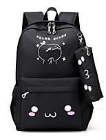 Women Backpack Oxford Cloth All Seasons Casual Bucket Ruffles Zipper Fuchsia Blushing Pink Black Blue