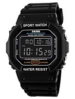 SKMEI Homens Relógio Esportivo Relogio digital Digital Calendário Impermeável Cronômetro PU Banda Preta