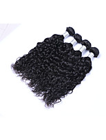 High Quality 4Bundles/Lot 400g Brazilian Virgin Remy Human Hair Wefts 100% Unprocessed Natural Black Natural Wave Human Hair Weaves/Extensions