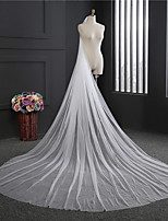 Wedding Veil One-tier Cathedral Veils Cut Edge Tulle