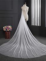 Свадебные вуали Один слой Фата для венчания Обрезанная кромка Тюль