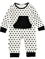 Baby Print One-PiecesCotton Blends Spring/Fall Winter Long Sleeve Baby Boys Romper Jumpsuit Bodysuits 0-18M