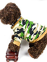 Cachorro Moletom Roupas para Cães Fantasias Casual Blocos de cor Cor camuflagem