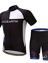 CYCEARTH Cycling Jersey Shorts Pants Short Sleeve Men's Bike Clothing Suits Set Summer Sport Breathable Bicycle Clothes Wear Gel Pad